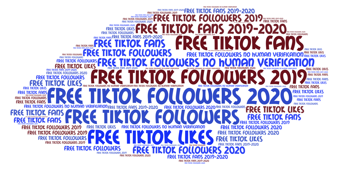 Free TikTok Followers 2019 no human verification - WordArt com