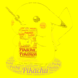 Cute Pikachu!!!!!!!! word cloud art