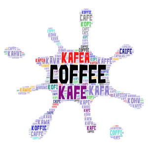 coffee word cloud art