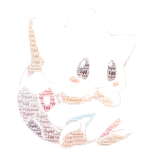 Cute Togepi! word cloud art