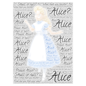 Alice word cloud art