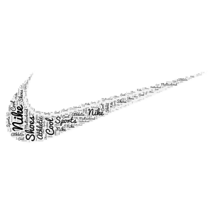 Nike word cloud art