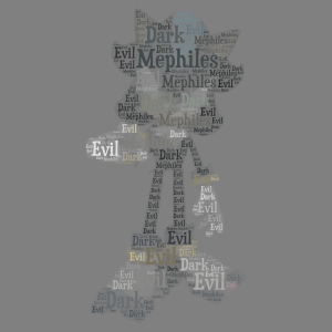 Mephiles the Dark 2 word cloud art