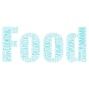 Cooking word cloud art