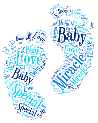 Feet Example. word cloud art