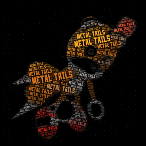 Metal Tails word cloud art
