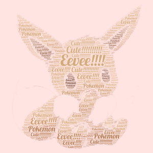 Eevee! word cloud art