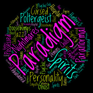 Paradigm word cloud art