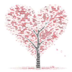 Happy Valentine's Day! word cloud art