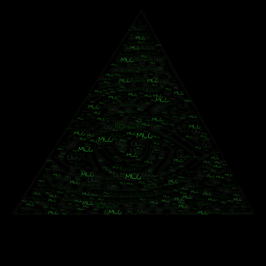 Illuminati word cloud art
