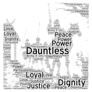 X - Beowulf's Last Battle - Quote #2 word cloud art