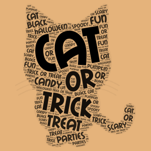 ~Black Halloween Cat~ word cloud art