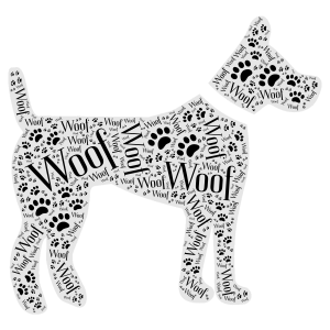 Woof word cloud art