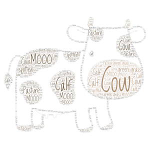 COWS!!! word cloud art
