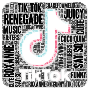 Tik Tok! word cloud art
