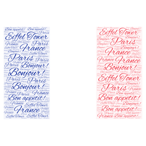 French Flag word cloud art