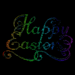 Happy Easter to everyone!!! word cloud art