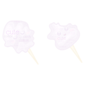 cute cotton candy word cloud art