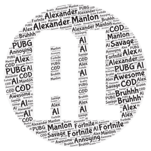 Alexander Manton word cloud art