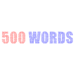 500 words word cloud art