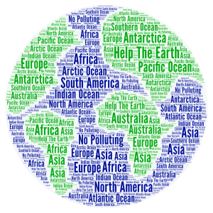 Help the Earth word cloud art