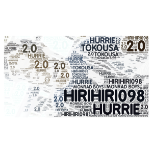 HIRIHIRI098 word cloud art