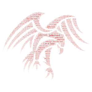 Jabberwock word cloud art