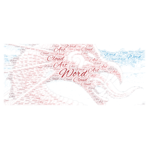 taniwha word cloud art