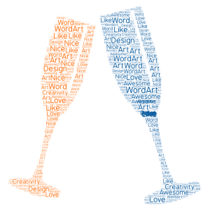 WordArt word cloud art