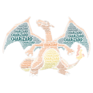charizard for 125334 word cloud art
