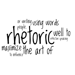 Rhetoric Word Cloud Art