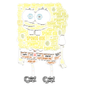 Copy of Sponge bob word cloud art