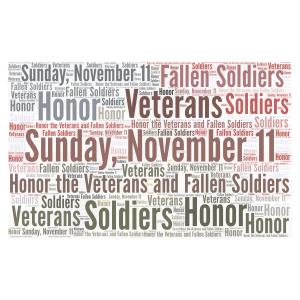 Veterans Day word cloud art