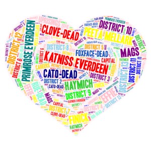 Hunger Games  word cloud art