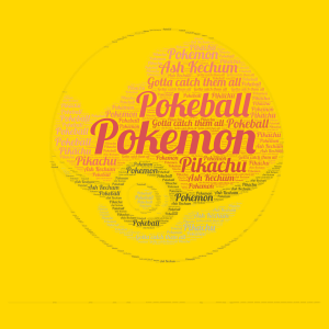 Pokemon word cloud art