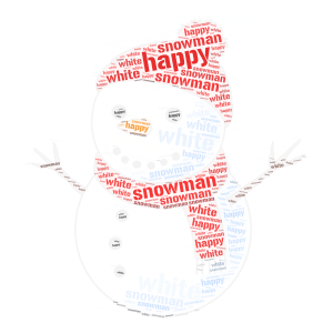 snowman word cloud art