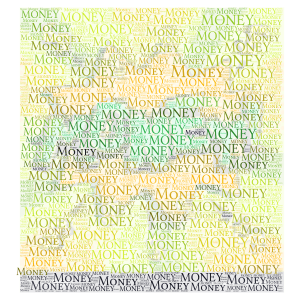 MONEY word cloud art