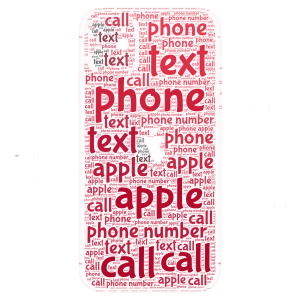 Apple Phone word cloud art