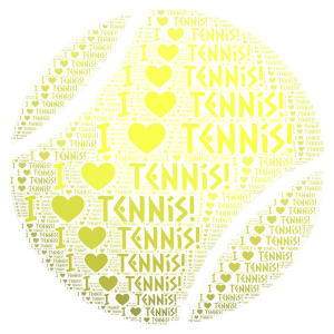 I love tennis word cloud art