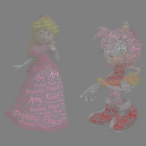 Peach and Amy word cloud art