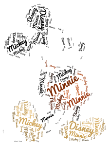 Disney 1 word cloud art