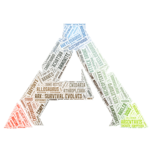Copy of Ark: Survival Evolved word cloud art