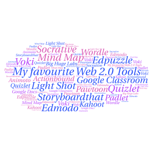 my favourite web 2.0 tools word cloud art