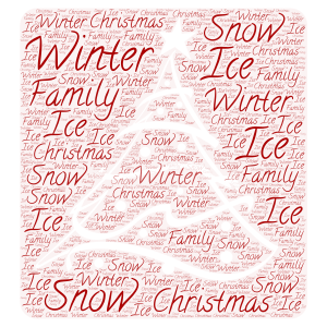 Christmas  word cloud art