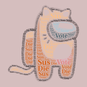 cat among us word cloud art
