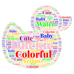 Duckie word cloud art