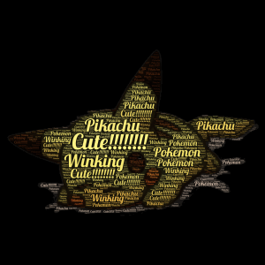 Ultimate Cute Pikachu!  word cloud art