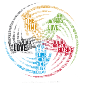 reunion  word cloud art