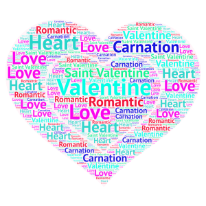 Valentine meaning to us and everyone and to me word cloud art