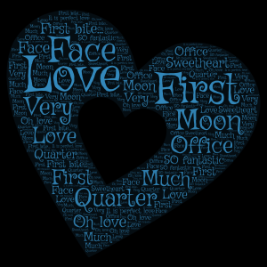 Love and Marriage word cloud art